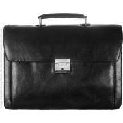 Babila Unisex Leather Briefcase 31364li - Black