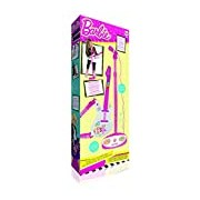 """IMC Toys """"Barbie"""" Electric Guitar and Microphone with Stand (White/Pink)"""