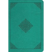 ESV Value Large Print Compact Bible (Trutone, Teal, Ornament Design)