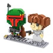 LOZ Star Wars Diamond Nano-Block(mini blocks) Boba Fett and Leia with BOX - 2 Piece set
