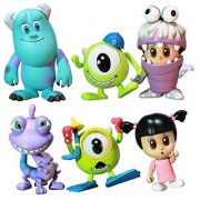 Monsters Inc. Hot Toys 3 Inch Mini Cosbaby Set of 6 Figures [Mike Sulley Boo Randall Boo Monster Ver. & Mike Diver Ver.]