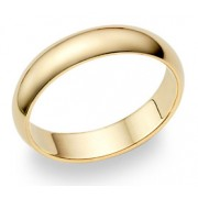 5mm Plain Gold Wedding Band in 14K