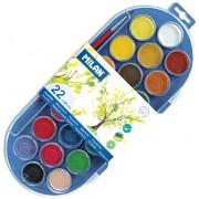 Acuarele pastile Milan 22 culori 30mm