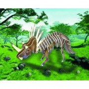 Puzzled Colorful Wood Craft Construction Styracosaurus 3D Jigsaw Puzzle