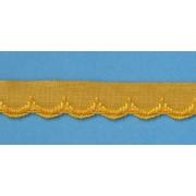 Zubovka šírka 1,1 cm žltá