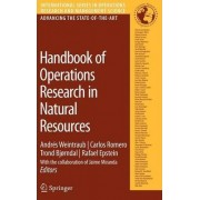 Handbook of Operations Research in Natural Resources by A. Weintraub