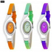 Dch Round Dial Multi Analog Watch Combos For Women-Gw-13