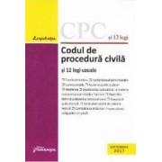 Codul de procedura civila si 12 legi uzuale Septembrie 2017