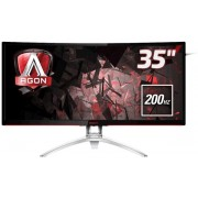"Monitor Gaming MVA LED AOC AGON 35"" AG352QCX, Ultra Wide (2560x1080), VGA, HDMI, DisplayPort, Ecran curbat, Boxe, 200 Hz, 4 ms (Negru/Argintiu) + Ventilator cu picior MYRIA MY4208, 3 trepte de viteza, 40 cm, 40 W + Cartela SIM Orange PrePay, 6 euro credit"
