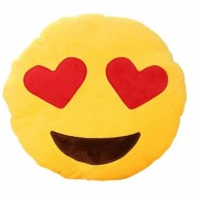 Smiley Love Emoticon Cushion With Heart Eyes