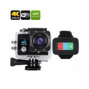 Q3H caméra étanche 4K Sport - 16MP, zoom numérique 4x, écran LCD 2 pouces, 170 degrés Grand Angle (Noir)