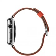 APPLE 38MM STAINLESS STEEL CASE WITH RED CLASSIC BUCKLE