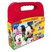 Educa Disney Mickey Mouse Clubhouse puzzle táskában, 4 az 1-ben