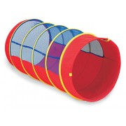 Pacific Play Tents 9X4 Diameter Institutional See Thru Padded Tunnel w/Connecting Lip #20518 Red/Blu