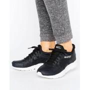 Asics Черные фактурные кроссовки из кожи Asics Gel-Lyte V - Черный