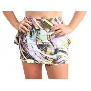 Short Saia Fitness Estampado - com Babado no Bumbum - DB106