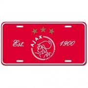 Nummerplaat ajax rood