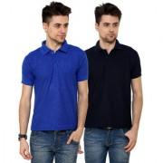 Grand Bear Men'S Multicolor Polo Neck T-Shirt (Pack Of 2)