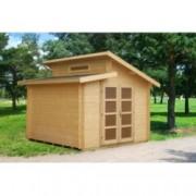 Caseta de madera Leif 4 de 320 x 320 cm. para Jardín