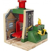 Fisher-Price Thomas the Train Wooden Railway Steamworks Lift and Repair Train Set