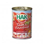 HAK taart & vlaaifruit aardbeien 430gr