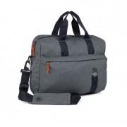 STM Judge Laptop Brief - дизайнерска чанта с дръжки за MacBook Pro Retina 15 и преносими компютри до 15 инча (сив)
