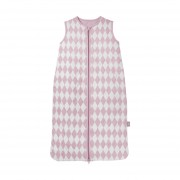 Jollein Slaapzak Winter Diamond Check Vintage Pink 90 cm