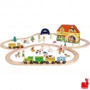 Story Express de boerderij en rails