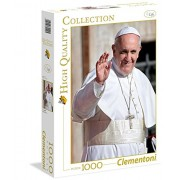 Clementoni - Puzzle de 1000 piezas, High Quality, diseño Papa, Francisco (392995)