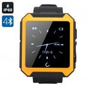 Uterra - Smartwatch Bluetooth / IP68 / Synchro répertoire / Appels + SMS / Veille du sommeil / Podomètre / Application Android + iOS / Orange