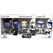 Hasbro Star Wars Exclusive 3 Pack 3 Inch Tall Mini Muggs Figure Set - CAD BANE the Bounty Hunter General Grievous the S