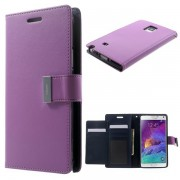 Korean Mercury Rich Wallet Case for Samsung Galaxy Note 4 - Purple