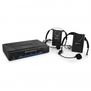 Комплект VHF микрофон, безжичен, 2 канала, 2 x слушалки (171.818UK)