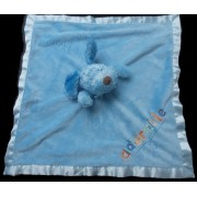 Doudou Peluche Chien Blankets And Beyond Baby Baby Plat Carré Bleu Adorable Brodé