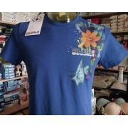 Guru T-shirt uomo Guru girocollo con stampa laterale fantasia e logo