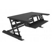 VisionMounts Sit Stand Desktop Black (20kgs/44lbs)