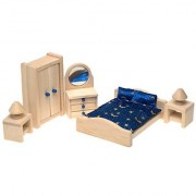 Small World Toys Ryan's Room Wooden Doll House - Suite Dreams Master Bedroom