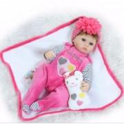 Bebe Cadeau Reborn Poupées Jouets 40 Cm Silicone Reborn Bébés Mode Poupées Cadeau De Noël Pour Enfants Enfant En Vie Nouveau-Né Poupées