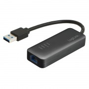 "Adaptor USB 3.0 la RJ-45, Gigabit, (T/M), chipset Realtek RTL8153, Logilink ""UA0184A"""