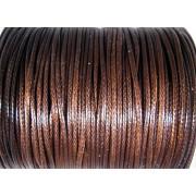 Vaxad Polyestertråd - Mörkbrun, 1mm, 1 rulle, ca 91m