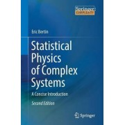 Statistical Physics of Complex Systems 2017 by Eric Bertin