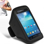 GBOS Samsung Galaxy J5 Prime Adjustable Armband Gym Running Jogging Sports Case Cover Arm band running Case Sport Case Holder Black