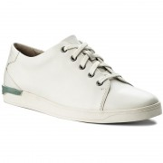Обувки CLARKS - Stanway Lace 261280067 White Leather