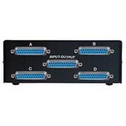Lindy 32082 - Adaptador para cable (1 x 25p D, 4 x 25p D, Hembra/hembra, Negro)