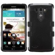 Funda Protector Mixto LG G3 Triple Layer Negro Carbon