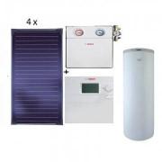 Pachet panouri solare Bosch 4 FKT-1S + WST SP750-1 + ISM 2