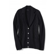 ランズエンド LANDS' END レディース・メリノブレンド・セータージャケット/長袖(ブラック)