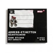 Naklejki adresowe Piraci Miś 12 papierowe