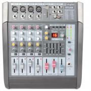 SKYTEC STL6A активен 6-канален смесител 600W усилвател USB SD MP3 EQ FX + 48V (Sky-172.572)