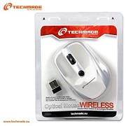 MOUSE WIRELESS WHITE TECHMADE